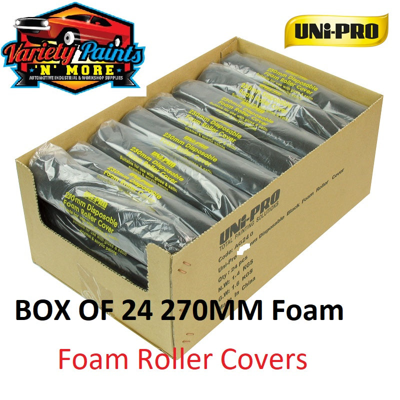 Unipro Disposable Foam Roller Sleeve 270mm 5mm Nap Box of 24
