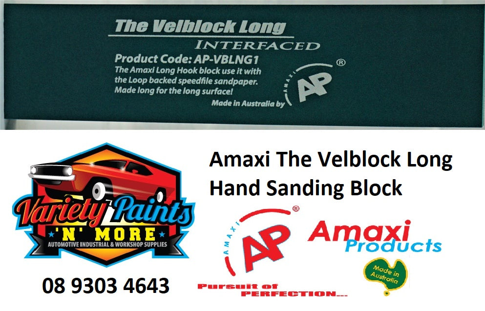 Amaxi The Velblock Long Hand Sanding Block