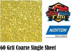 Norton 60 Grit Single Adalox Vibrator Sandpaper Sheet 115mm x 230mm