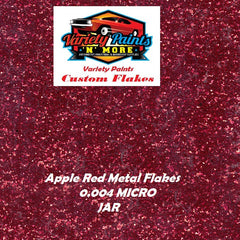 Metal Flakes Apple Red 0.004 Micro 4 Oz Jar