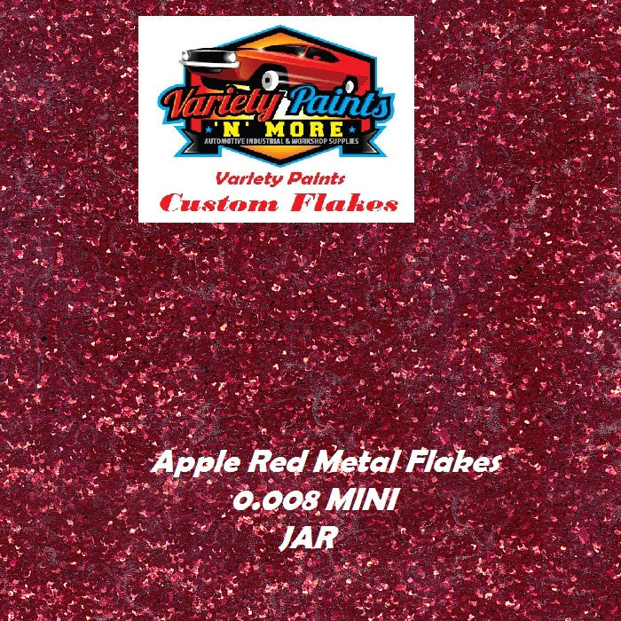 Metal Flakes Apple Red 0.008 Mini 4 Oz Jar