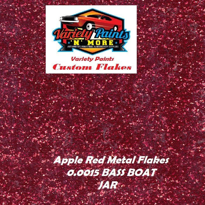 Metal Flakes Apple Red 0.015 Bass Boat 4 Oz Jar