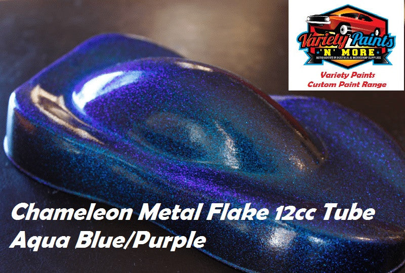 Variety Paints Metal Flakes Aqua Blue / Purple Chameleon 0.004 12cc TUBE