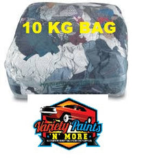 Bag of Rags Coloured Cotton Wiping Rags 10KG