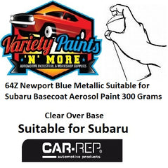 64Z Newport Blue Pearl Suitable for Subaru Basecoat Aerosol Paint 300 Grams