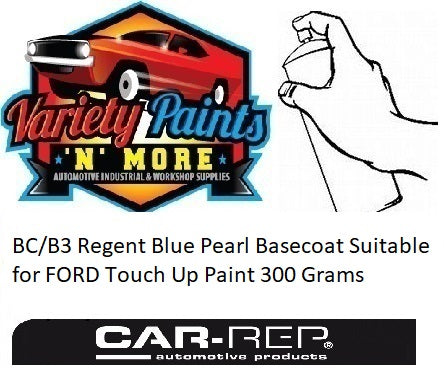 BC/B3 Regent Blue Pearl Basecoat Suitable for FORD Touch Up Paint 300 Grams