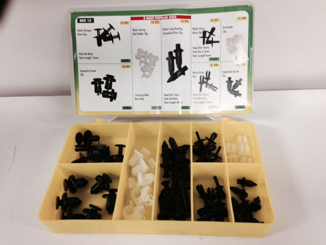 Torres Beading Rivet / Expansion clips (Various) 55 pieces per box