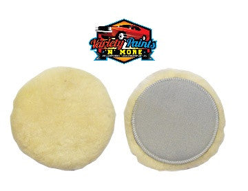 Black Diamond Velcro Sheepskin Polishing Buff Pad 150mm 6""