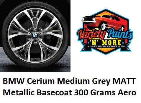 E6715 BMW Cerium Medium Grey MATT Metallic Basecoat  Aerosol Paint 300 Grams