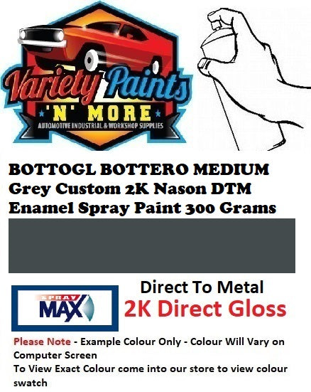 BOTTOGL BOTTERO MEDIUM Grey Custom 2K Nason DTM Enamel Spray Paint 300 Grams