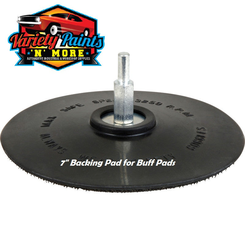 "7"" 180mm Backing Pad For Buff Pads"