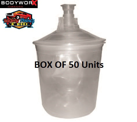 BodyworX box of 50 125um Filtered Lids & Caps 600ml