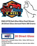 BW6 (2Y9) Dark Blue Mica Pearl Nissan 2K Direct Gloss Aerosol Paint 300 Grams