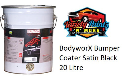 BodyworX Bumper Coater Satin Black 20 L