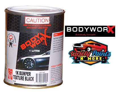 BodyworX Texture Coating Black 1 Litre