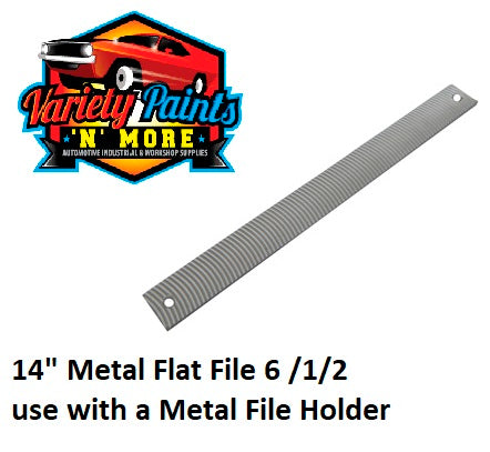 "14"" Metal Flat File 6 /1/2 use with a Metal File Holder"