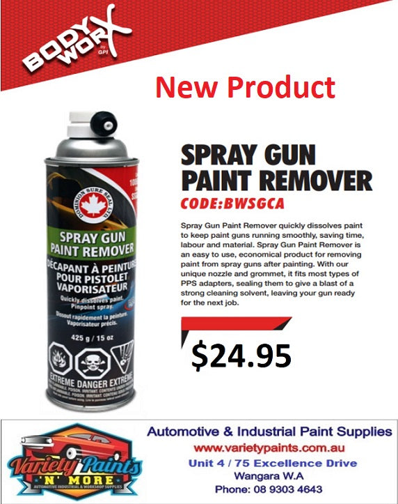 BodyworX Spray Gun Paint Remover Aerosol 425 Gram