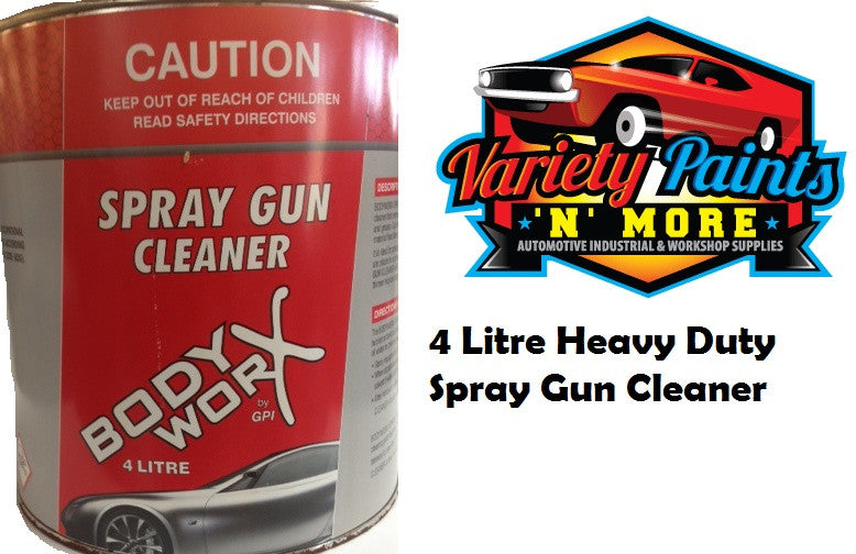 BodyworX Heavy Duty Spray Gun Cleaner 4 Litre