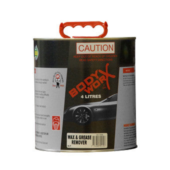 BodyworX Wax and Grease Remover 4 Litre