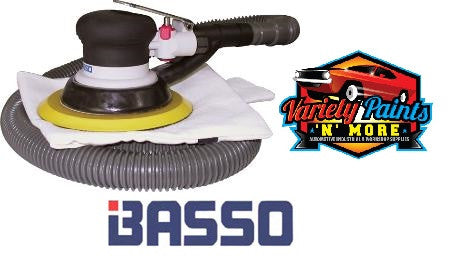 "Basso 6"" 150mm Self generated dust extraction sander 12000rpm With Hose"