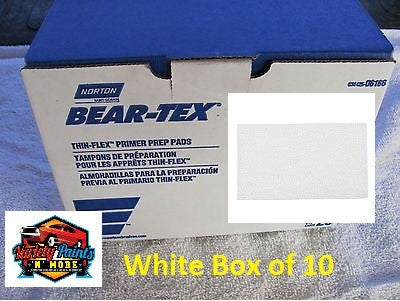 Norton Beartex Pads White 150mm X 230mm Box of 10