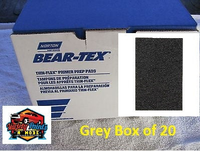 Norton Beartex Pads Grey 150mm X 230mm Box of 20