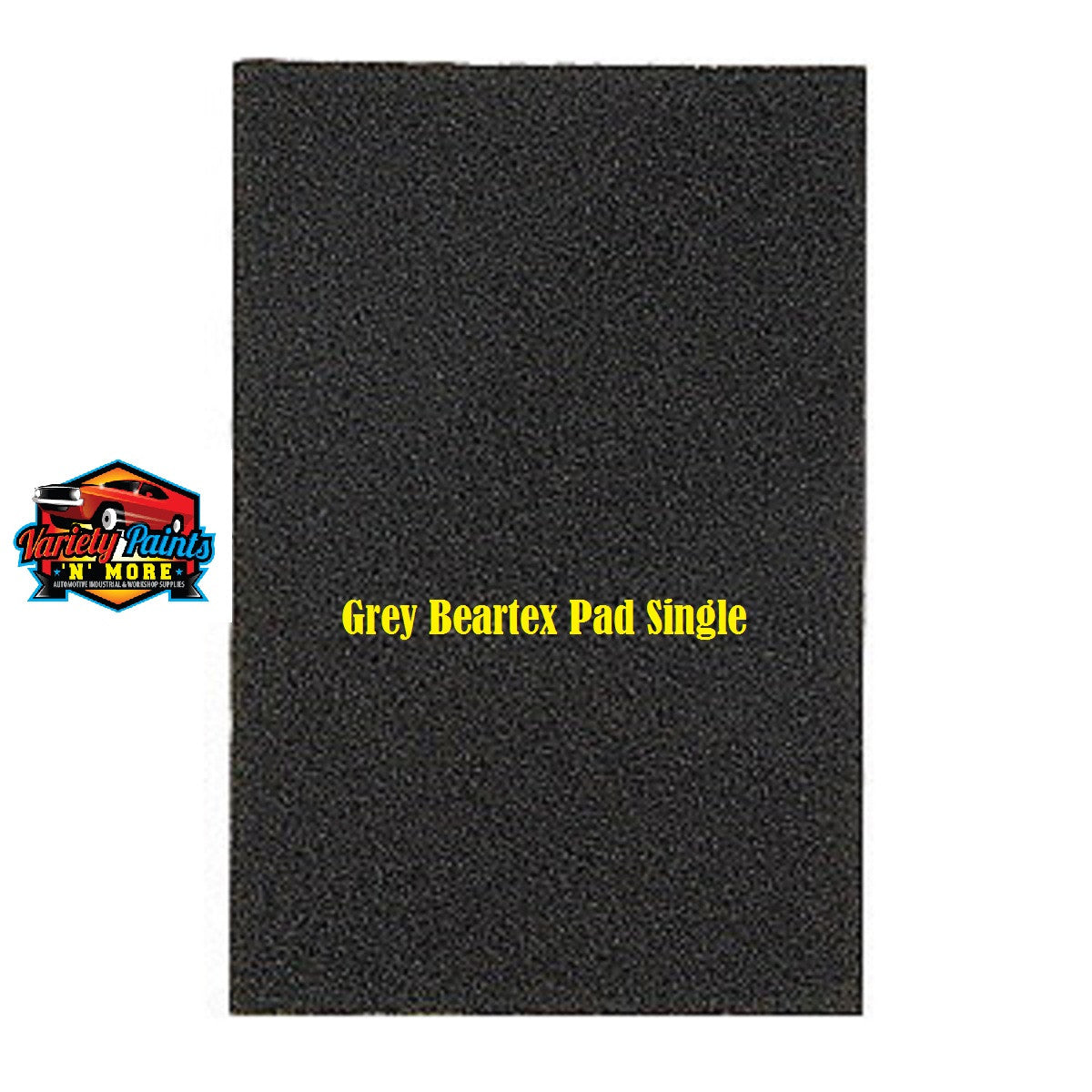 Norton Beartex Single Pad Grey 150mm X 230mm Variety Paints