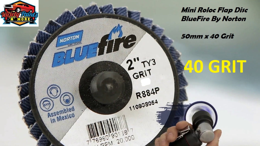 Bluefire Mini Roloc Flap Disc 50mm x 40 Grit