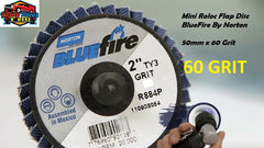 Bluefire Mini Roloc Flap Disc 50mm x 60 Grit