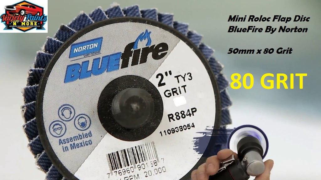 Bluefire Mini Roloc Flap Disc 50mm x 80 Grit