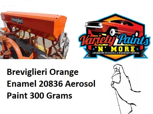 Breviglieri Orange Enamel 20836 Aerosol Paint 300 Grams