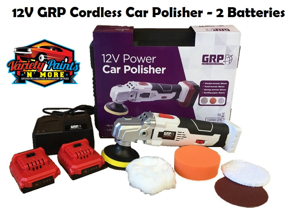 12V GRP Cordless Car Polisher - 2 Batteries