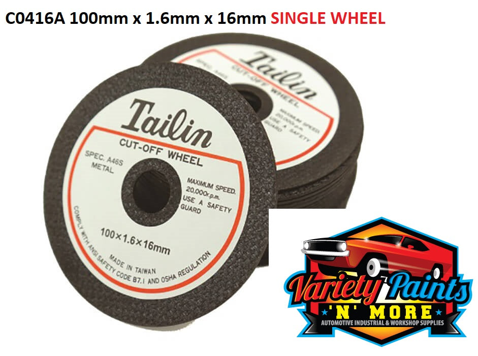 Tailin Inox Cutting Wheel 100mm x 1.6mm x 16mm