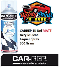 CARREP 1K Uni MATT Acrylic Clear Laquer Spray 300 Grams