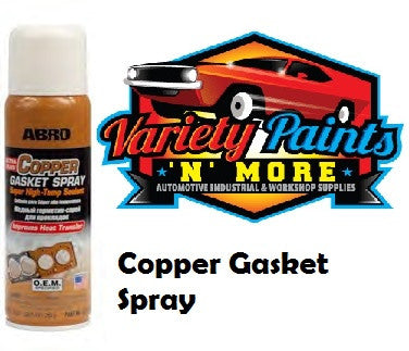 Abro Ultra Copper Gasket Spray 255 grams CG-418-R