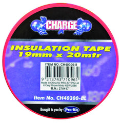 Charge Insulation Tape Roll RED Prokit  19mm x 20 Metres