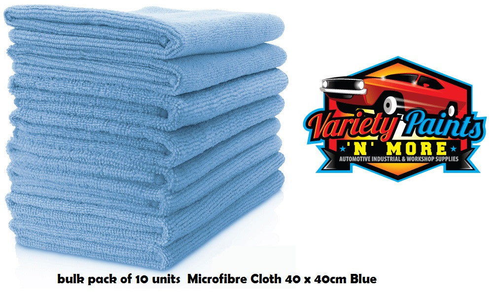 Microfibre Cloth Blue Pack of 10 Units