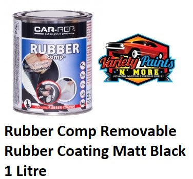 Car-Rep Rubber Comp Removable Rubber Coating Matt Black 1 Litre