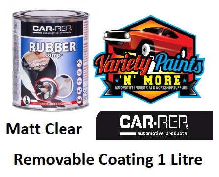 Car-Rep Rubber Comp Removable Rubber Coating Transparent Matt Clear 1 Litre
