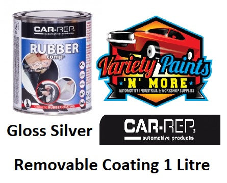 Car Rep Rubber Comp Removable Rubber Coating Wheel Silver High Gloss 1Lt