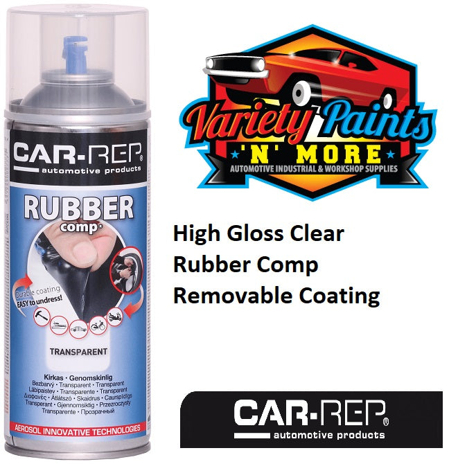 Car-Rep High Gloss Clear Rubber Comp Removable Coating  Aerosol