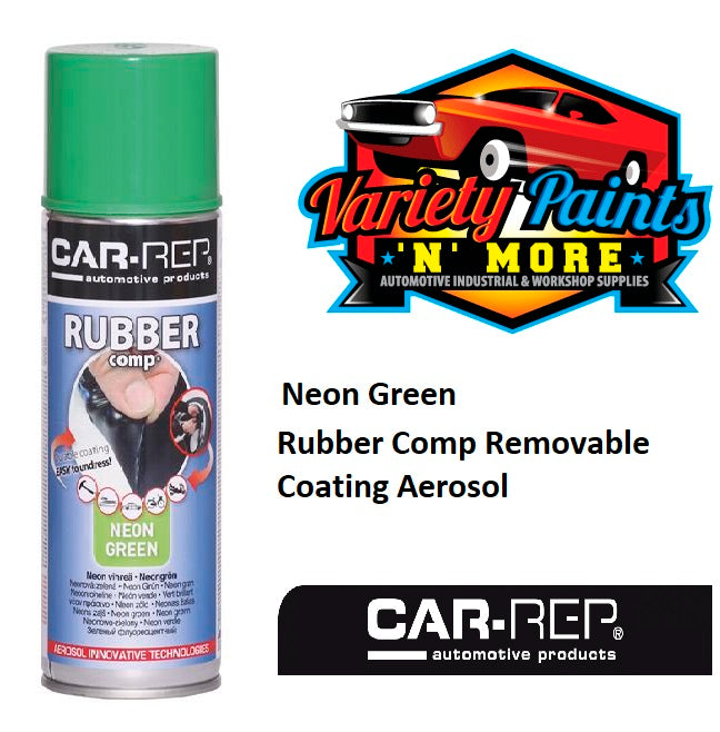 Car-Rep NEON Green Semi Gloss Rubber Comp Removable Coating Aerosol