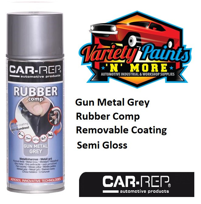 Car-Rep Rubber Comp Removable Rubber Coating Gun Metal Grey Semi Gloss Aerosol