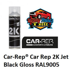 Car-Rep® Car Rep 2K Jet Black Gloss RAL9005 Aerosol 500ml