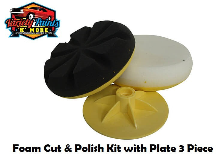 CRS Foam Cut & Polish Kit with Plate 3 Piece
