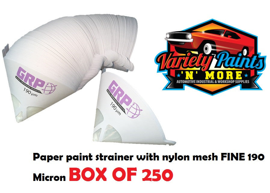 Paper paint strainer with nylon mesh FINE 190 Micron BOX OF 250