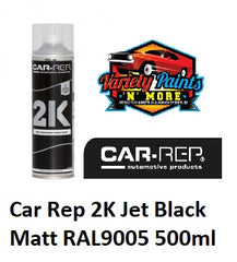 Car Rep 2K Jet Black Matt RAL9005 500ml Variety Paints N More