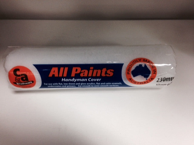 230MM Easycoat Allpaints Roller Cover 10mm Nap Variety Paints N More Wangara W.A