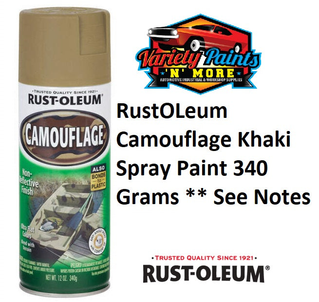 RustOLeum Camouflage Khaki Spray Paint 340 Grams ** See Notes