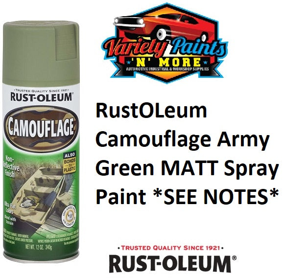 RustOLeum Camouflage Army Green Spray Paint *SEE NOTES*